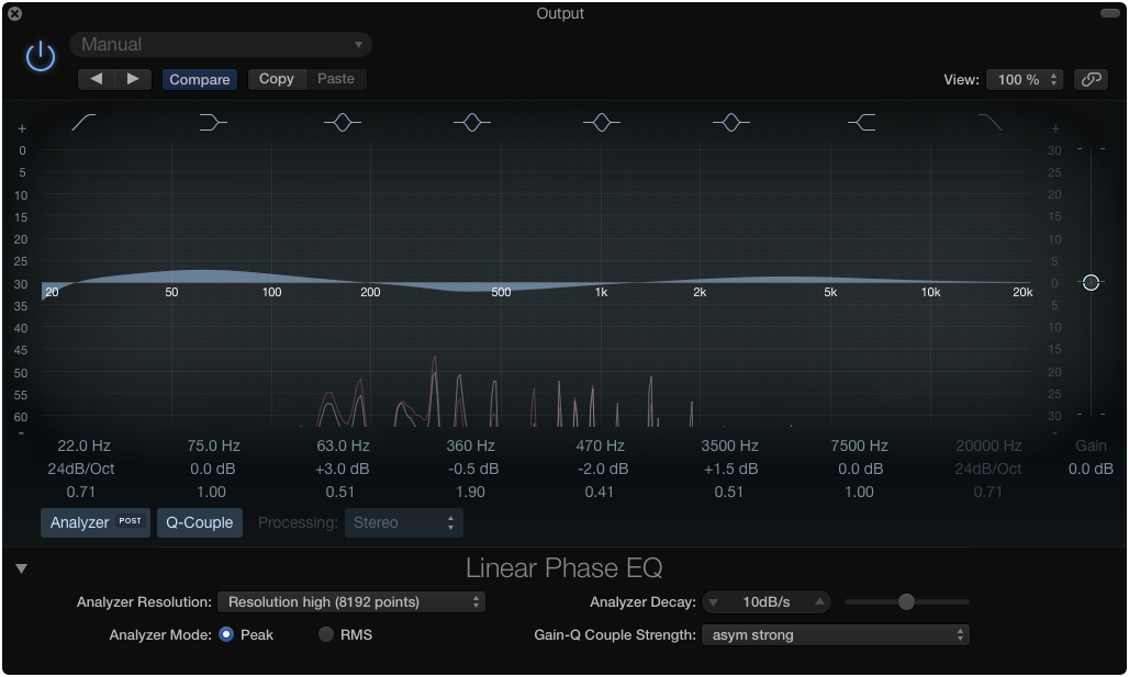 Logic X Linear Phase EQ